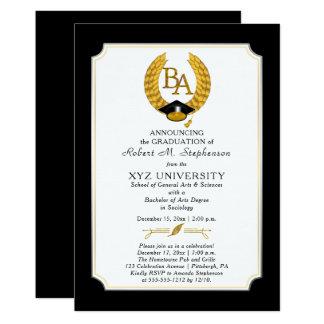 Tarjeta VAGOS - graduación de la universidad de la