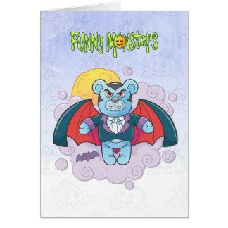 Tarjeta Vampiro del oso de peluche