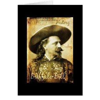 Tarjeta Vaquero bien nacido de Buffalo Bill