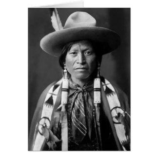 Tarjeta Vaquero de Jicarilla Apache