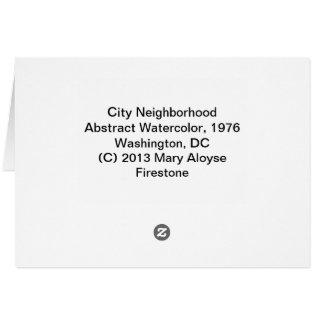 Tarjeta Vecindad de la ciudad