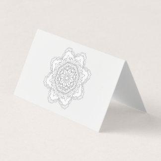 Tarjeta Vect desing del indio del diseño floral de la