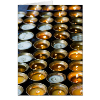 Tarjeta Velas de la mantequilla de yacs