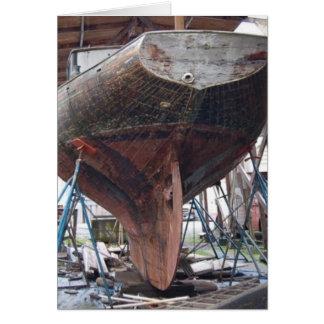 Tarjeta velero de madera