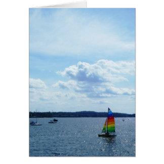 "Tarjeta ""Velero en el lago Champlain """