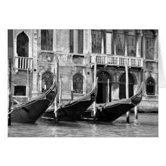 Tarjeta veneciana de las góndolas