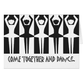 Tarjeta Venga junto y baile