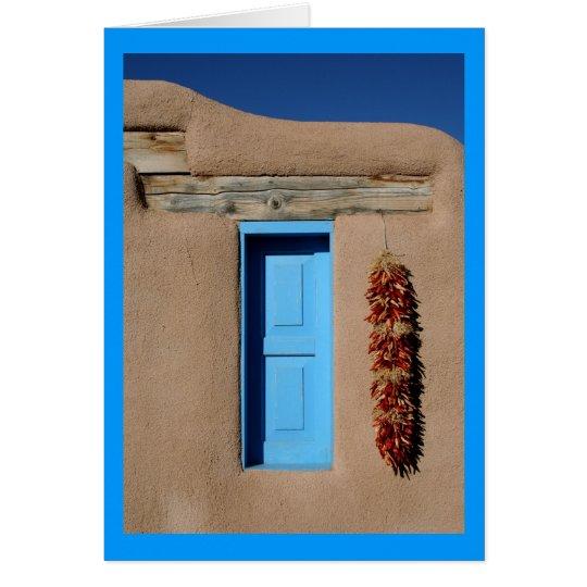 Tarjeta Ventana azul de Taos