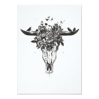 Tarjeta Verano muerto (blanco y negro)