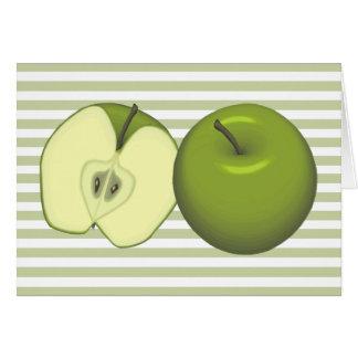 Tarjeta verde de las manzanas