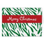 Tarjeta verde de moda de las Felices Navidad de la