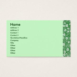 Tarjeta verde del perfil de la licencia de la uva