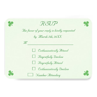 Tarjeta verde irlandesa divertida de la invitación invitación 8,9 x 12,7 cm