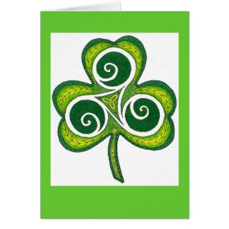 Tarjeta Verde + Trébol blanco