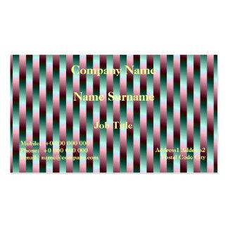 Tarjeta verde y púrpura de las rayas tarjetas de visita