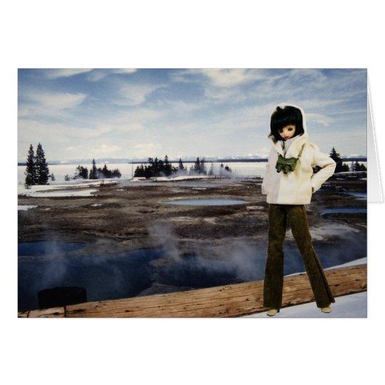 Tarjeta Verdi en PA nacional del lago Yellowstone,