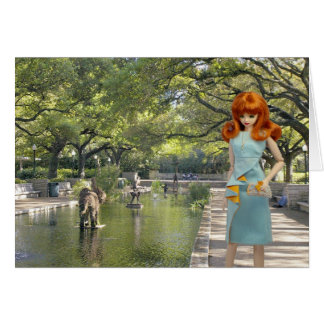 Tarjeta Verdi, entrada del parque zoológico de Houston