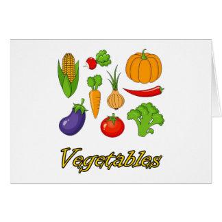 Tarjeta verduras