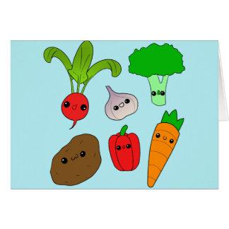 Tarjeta Verduras de Chibi