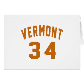 Tarjeta Vermont 34 diseños del cumpleaños