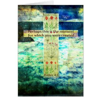 Tarjeta Verso inspirado de la biblia que eleva sobre vida
