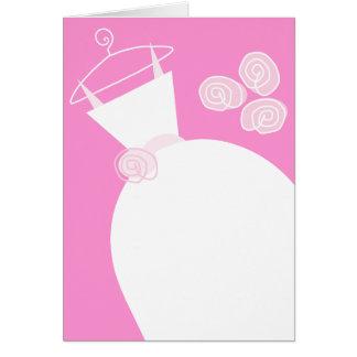 Tarjeta Vertical del rosa del vestido de boda