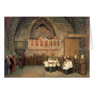 Tarjeta Vespers en la iglesia de San Francisco