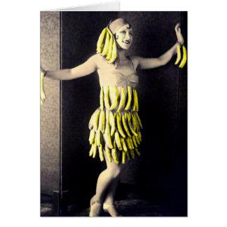 Tarjeta Vestido del plátano