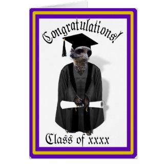 Tarjeta Vestido graduado de Meerkat W/Grey y marco negro