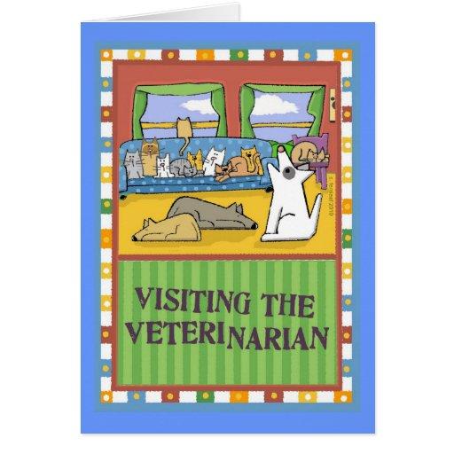 Tarjeta veterinaria del de agradecimiento