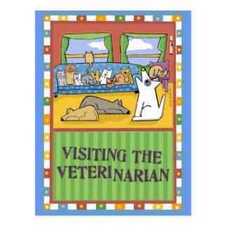 Tarjeta veterinaria del de agradecimiento postal