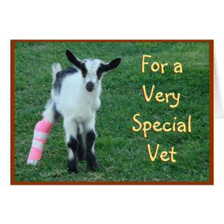 Tarjeta veterinaria - modifique cualquier ocasión
