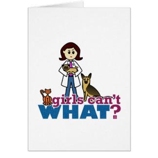 Tarjeta Veterinario del chica