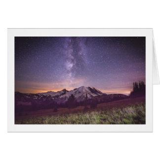 Tarjeta Vía láctea del Monte Rainier