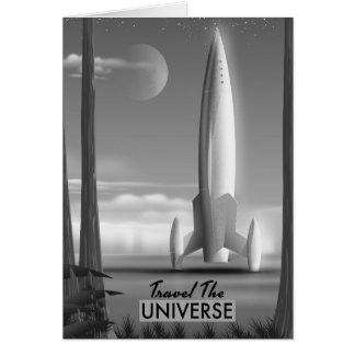 Tarjeta Viaja el universo mono (la impresión de la edición