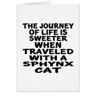 Tarjeta Viajado con el gato de Sphynx