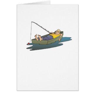 Tarjeta Viaje de pesca perezoso del barco -