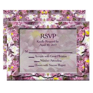 Tarjeta Victorian RSVP floral de color de malva
