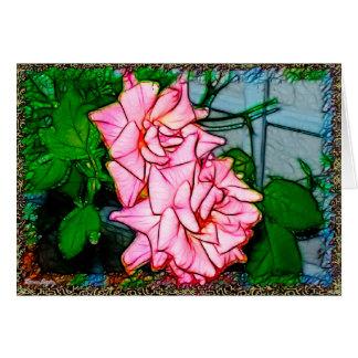 Tarjeta Vid color de rosa
