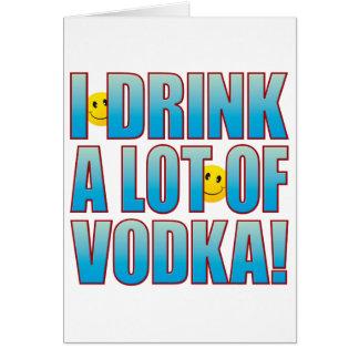 Tarjeta Vida B de la vodka de la bebida