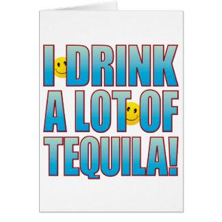 Tarjeta Vida B del Tequila de la bebida