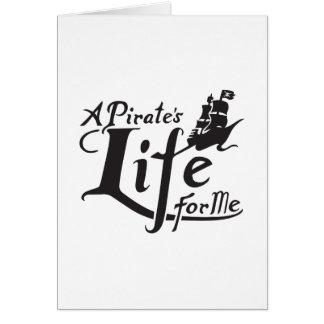 Tarjeta Vida del pirata para mí