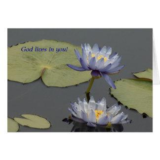 Tarjeta ¡Vidas de dios en usted!