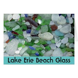 Tarjeta Vidrio de la playa del lago Erie
