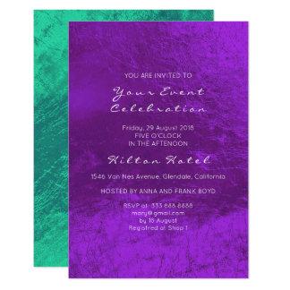 Tarjeta Vidrio metálico mínimo de la púrpura del verde