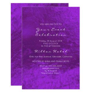 Tarjeta Vidrio púrpura Amethyst blanco metálico mínimo