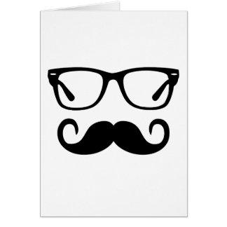 Tarjeta Vidrios del inconformista y bigote del manillar