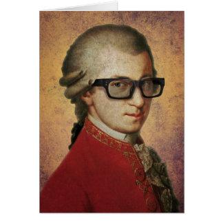 Tarjeta Vidrios divertidos de Mozart del inconformista