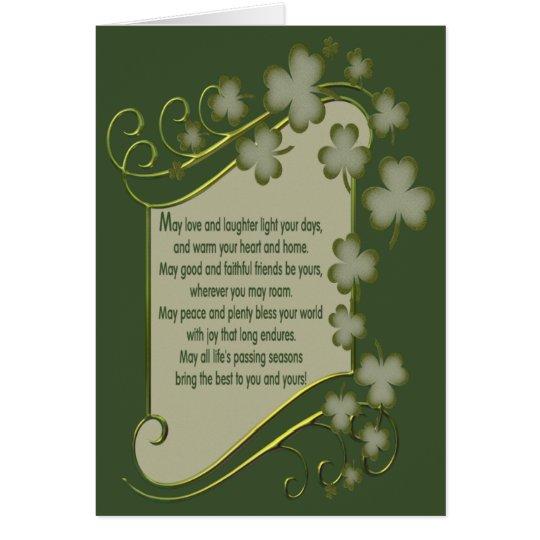 Tarjeta Vieja bendición irlandesa