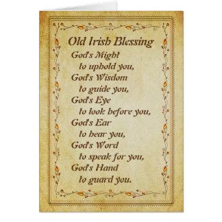 Tarjeta Vieja bendición irlandesa, la sabiduría de dios